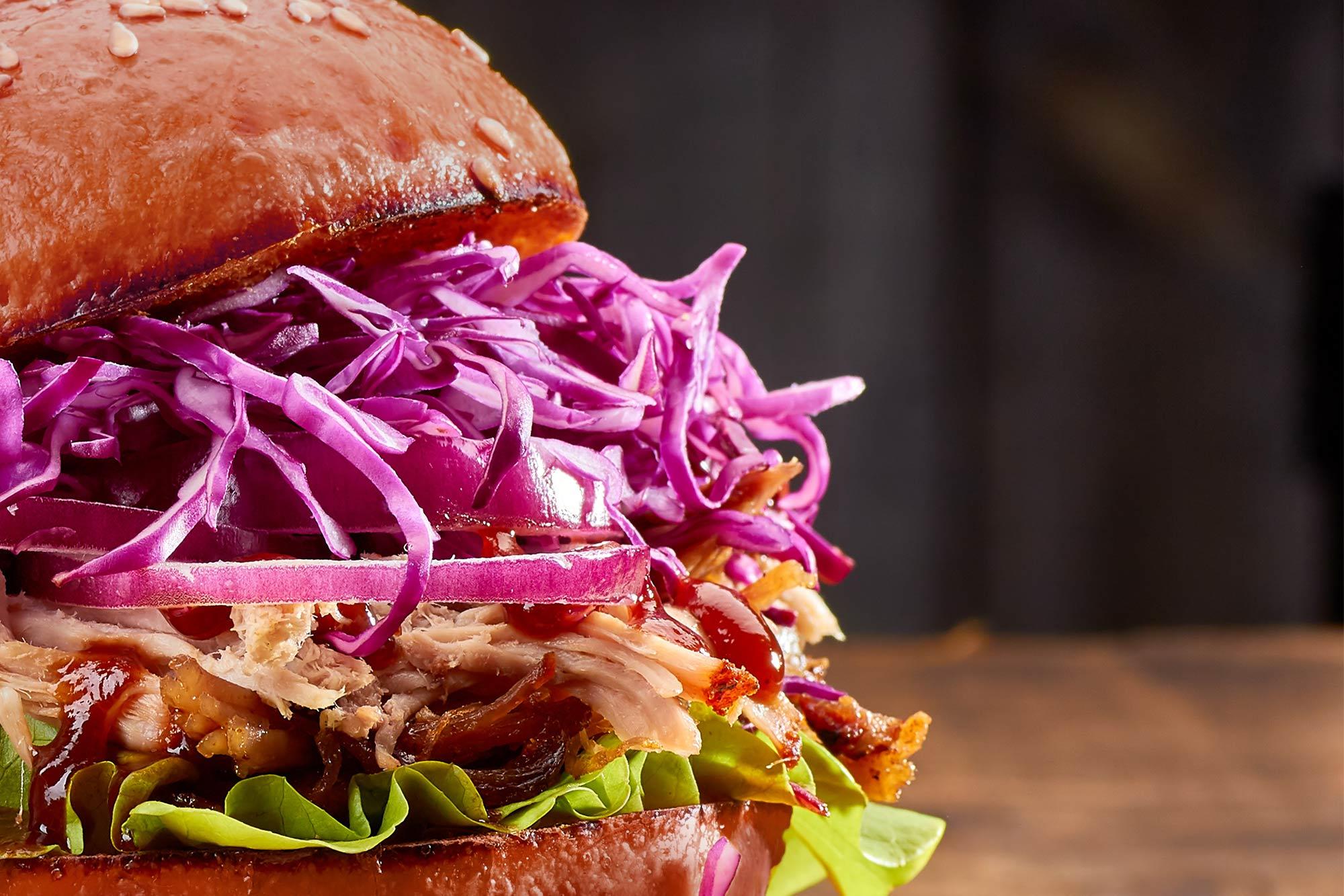 Pulled-Pork-Burger bei der FFW Lützelburg