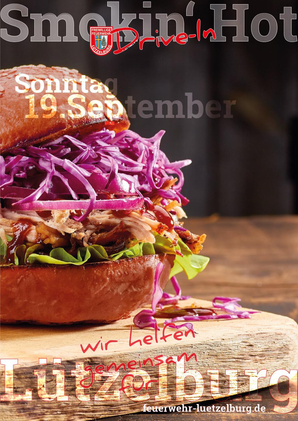 Pulled-Pork-Burger Drive-In am 19. September 2021